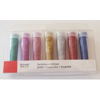 Lot 7 tubes 7 grammes Paillettes fines mix couleurs artemio
