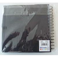 Album scrapbook carnet spiralé 40 feuilles 20x20cm NOIR