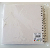 Album scrapbook carnet spiralé 40 feuilles 20x20cm BLANC