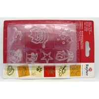 7 tampons silicone NOEL HIVER clear stamps Rayher