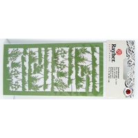Découpes laser Papier Buissons Herbe Papier Vert Rayher