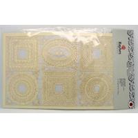 Découpes laser Papier Cadres coins Crème Rayher