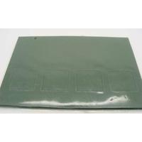 Carte à fenêtre Passe-partout 4 carrés Vert Foncé 106x152mm double par 4 pièces