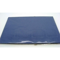 Carte à fenêtre Passe-partout 4 carrés Bleu Foncé 106x152mm double par 4 pièces