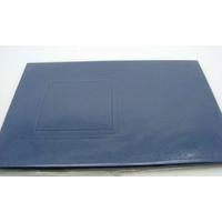 Carte à fenêtre Passe-partout 1 carré Bleu Foncé 106x152mm double par 4 pièces
