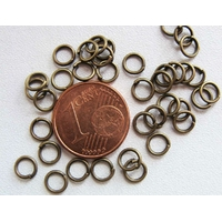 Anneaux 5mm simple BRONZE par 200 pcs