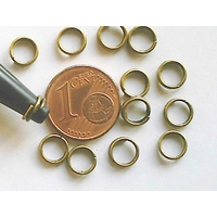Anneaux 6mm brisés BRONZE par 150 pcs