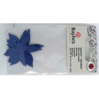 Découpe Papier Home déco Fleurs Bleues 45mm Rayher par 10 pcs