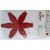 Découpe Papier Home déco Fleurs Rouges 92mm Rayher par 6 pcs