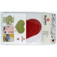 Découpe Papier Home déco Coeur Rouge 80mm avec languette Rayher par 4 pcs