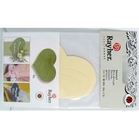 Découpe Papier Home déco Coeur Crème 80mm avec languette Rayher par 4 pcs