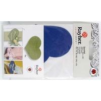 Découpe Papier Home déco Coeur Bleu Foncé 80mm avec languette Rayher par 4 pcs