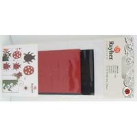 Découpes Papier Coccinelles Noir et Rouge Rayher par 10 pcs