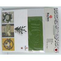 Découpe Papier Home déco Branches Feuilles 40mm Vert Rayher par 12 pcs