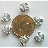 Perles Aluminium Fleur 6mm ARGENTE par 20 pcs