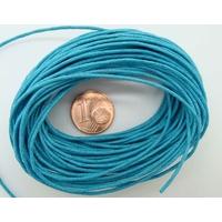 FIL Coton ciré BLEU 1mm en echeveau par 9 m