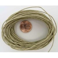 FIL Coton ciré KAKI CLAIR 1mm en echeveau par 9 m