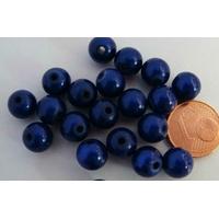 Perles Acrylique Rondes 8mm miracle BLEU FONCE par 20 pcs