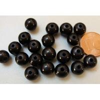 Perles Acrylique Rondes 8mm miracle GRIS NOIR par 20 pcs