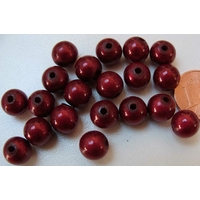 Perles Acrylique Rondes 8mm miracle ROUGE par 20 pcs