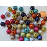 Perles Acrylique Rondes 10mm miracle Mix couleurs par 50 pcs