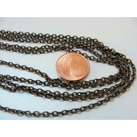 Chainette ovale fil rond BRONZE 3mm par 10 mètres