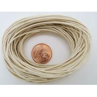 FIL Coton ciré ECRU 1mm en echeveau par 10m