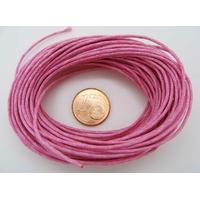 FIL Coton ciré ROSE FONCE 1mm en echeveau par 10 m