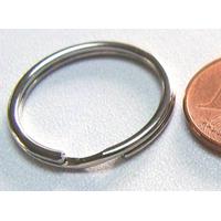 Anneaux brisés PORTE-CLE 20mm simple argenté par 50 pcs