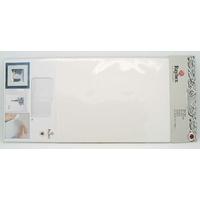 Feuilles papier scrapbooking déco 25x12cm Blanc par 3 pcs