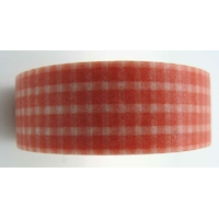 Ruban Masking Tape Carreaux vichy rouge 15mm x 8m