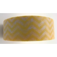 Ruban Masking Tape Jaune Chevrons / uni 15mm x 8m