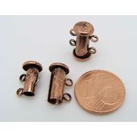 1 FERMOIR 2 rangs mécanique métal Cuivre 14mm par 1 pc