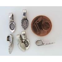 Perles Métal argenté vieilli BELIERE FEUILLE à coller 16mm par 20 pcs
