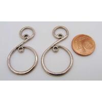 Perles Métal argenté vieilli CONNECTEUR 37mm par 10 pcs