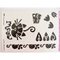 2 Pochoirs Chat et Souris 25x18cm pour tissu et Home déco