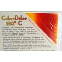 Color-Dekor 180 degrés motif Dégradé orange pour décoration de céramique verre