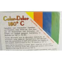 Color-Dekor 180 degrés 4 couleurs unies pour décoration de céramique verre