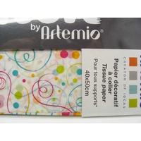 Papier décoratif à coller Artepatch 1 feuille 40x50cm CONFETTI Artemio