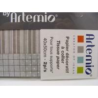 Papier décoratif à coller Artepatch 2 feuilles 40x50cm LIGNES CLAIRES Artemio
