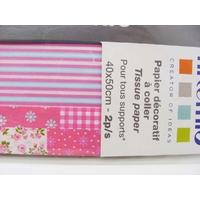 Papier décoratif à coller Artepatch 2 feuilles 40x50cm PATCHWORK SWEET Artemio