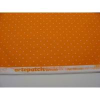 Papier décoratif à coller Artepatch 1 feuille 40x50cm POIS BLANCS JAUNE Artemio