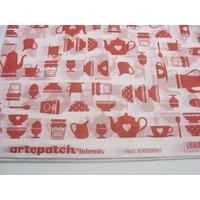 Papier décoratif à coller Artepatch 1 feuille 40x50cm Petit Déjeuner Rouge Artemio