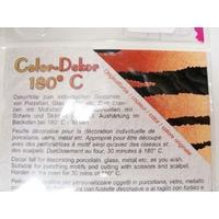Color-Dekor 180 degrés motif TIGRE pour décoration de céramique verre