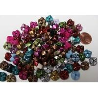 Perles rondelles acrylique emboîtable mix couleurs 9mm par 100 pcs