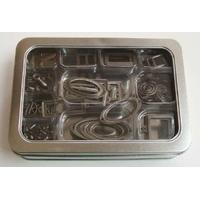 Kit Cartonnage Embellissement en métal foncé par 1 boite de 160 pcs