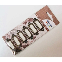 PORTE-ETIQUETTES Rectangle métal couleur Embellissement bronze 45mm ARTEMIO par 6 pcs