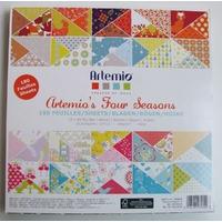 Bloc 180 feuilles papier 30x30cm Fours Seasons 60 motifs différents ARTEMIO