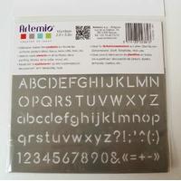 Pochoir Home Deco Alphabet Chiffre Ponctuation Planche 10x15cm Artemio