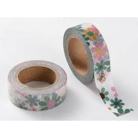 Ruban Masking Tape Fleurs Multicolores 15mm x 10m